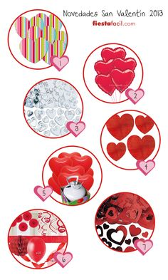 Decorados novedosos para San Valentín, via blog.fiestafacil.com / Fun St. Valentine's Day decorations, from blog.fiestafacil.com