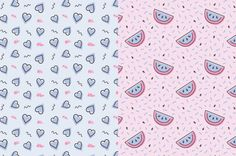 The Dancing Melons Pattern Pack by Sweet Dazee on @creativemarket
