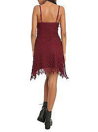 HOTTOPIC.COM - Wine Crochet Dress