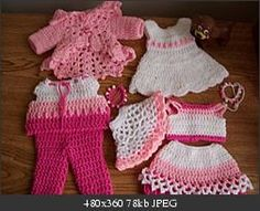 "Pink is so pretty… 18"" doll free crochet patterns"
