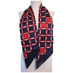 1960s Scarf Mod Red White and Blue