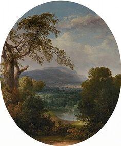 Thomas Doughty, Lake Vista with Fisherman, Hudson River School