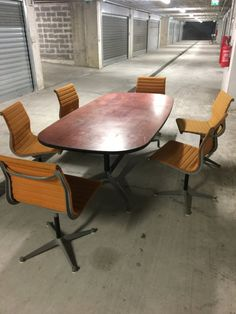 @hermanmiller #Eames aluminum chairs and conference table by Charles & Ray Eames made in the sixties, will still provide years of service and performance