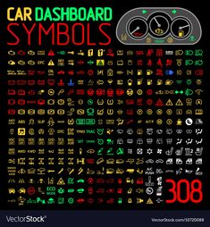 Find Car Dashboard Panel Icons Symbols Warning stock images in HD and millions of other royalty-free stock photos, illustrations and vectors in the Shutterstock collection. Kpi Dashboard, Dashboard Interface, Accessoires Jeep, Car Symbols, White Tractor, Car Facts, Car Care Tips, Learning To Drive, Car Gadgets