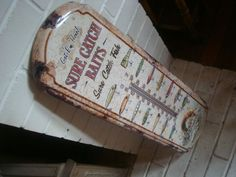 GIANT 2 FOOT THERMOMETER BAIT & LURES FISHING SUPPLIES Rustic Fisherman Decor