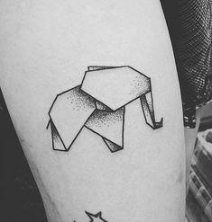 75 Big And Small Elephant Tattoo Ideas - Brighter Craft - 75 Big And Small Elep. - 75 Big And Small Elephant Tattoo Ideas – Brighter Craft – 75 Big And Small Elep… – 75 Big - Origami Tattoo, Origami Elephant Tattoo, Elephant Tattoo Design, Small Elephant Tattoos, Geometric Elephant Tattoo, Mini Tattoos, Trendy Tattoos, New Tattoos, Small Tattoos