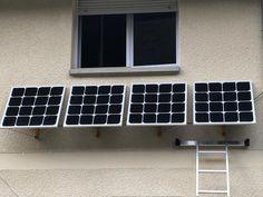 Une installation solaire installée par Franck sur sa maison en moins d'une heure ! Aussitot branché le kit alimente une pratie des appareils du réseau. Installation Solaire, Kit, Morning Sun, Appliances, Beginning Sounds, Home