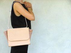 DU PELLI Ali di rosa - handmade leather bag