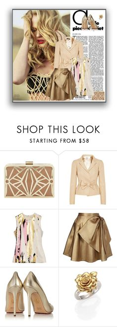 """""""All That Glitters"""" by seafreak83 ❤ liked on Polyvore featuring Dune, Valentino, Reed Krakoff, Dice Kayek, Charlotte Olympia and Marc by Marc Jacobs"""