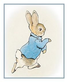 Peter Bunny Rabbit inspired by Beatrix Potter Counted Cross Stitch or Counted Needlepoint Pattern