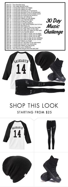 """(Day 1) Better Off Dead by Sleeping with Sirens"" by bands-are-my-savior ❤ liked on Polyvore featuring Coal and Converse"