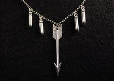 Werewolf Hunter Necklace Silver Bullets & by brightstrangethings, $20.00