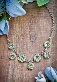 Bullet Necklace, Bib Necklace on Stainless Steel Bullet Necklace, Bullet Jewelry, Jewelry Ideas, Jewelry Art, Unique Jewelry, Shotgun Shell Jewelry, Bullet Art, Ear Rings, Cool Gifts