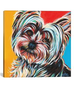 Look at this #zulilyfind! Sweet Yorkie II Gallery-Wrapped Canvas #zulilyfinds