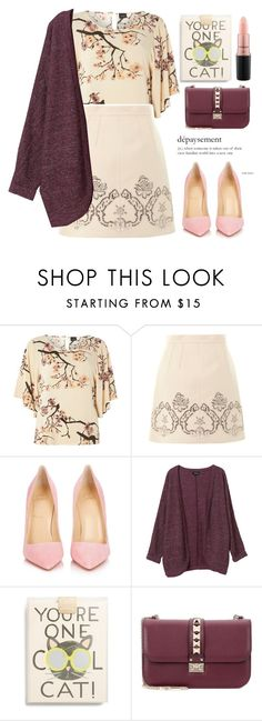 """""""86"""" by erohina-d ❤ liked on Polyvore featuring beauty, Dorothy Perkins, Dolce&Gabbana, Christian Louboutin, Monki, Rifle Paper Co, Valentino and MAC Cosmetics"""
