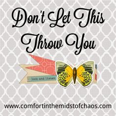 Comfort in the Midst of Chaos: Don't Let This Throw You by Jennifer A. Janes