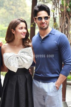 Sidharth Malhotra and Alia Bhatt at a #KapoorAndSons promo event. #Bollywood…