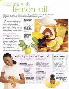 Herbs:  Healing with #Lemon #Oil.