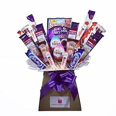 Kinder XL Chocolate Bouquet 41 Piece Tree Explosion Gift Hamper Selection Box - Perfect Gift Chocolate Hampers, Sweet Trees, Selection Boxes, Chocolate Bouquet, Candy Bouquet, Gift Hampers, Food Gifts, Pop Tarts, Snack Recipes