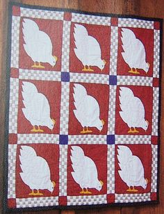 Country Cluckers - Hens Chickens Wall Quilt Pattern