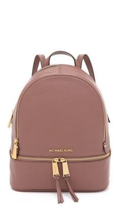 Rhea backpack by MICHAEL Michael Kors. A structured MICHAEL Michael Kors backpack in pebbled leather. Polished logo lettering accents th. ,Michael kors outlet,Press picture link get it immediately! Michael Kors Rhea Backpack, Sac Michael Kors, Michael Kors Outlet, Handbags Michael Kors, Purses And Handbags, Mk Handbags, Cheap Handbags, Michael Khors, Brown Handbags