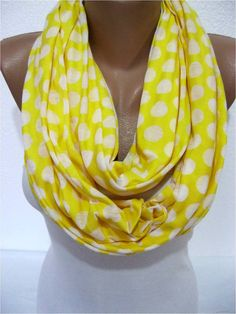 ON SALE  Yellow Scarf Infinity Scarf Shawl Circle by SmyrnaShop, $12.90