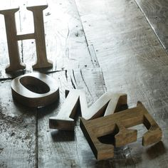 home*sweet*home! Wooden HOME sign adds character and a personal touch to a space.