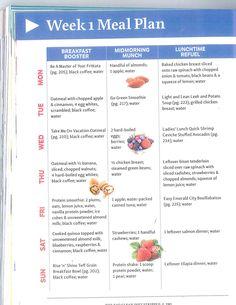 week 1 of clean eating diet plan