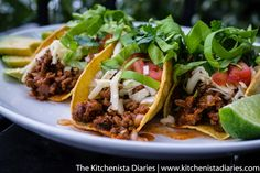The Kitchenista Diaries: Ground Beef & Chorizo Tacos