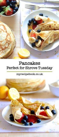 While it's nice to sometimes jazz up your pancake recipes, nothing beats the traditional kind! Here are some to try this Pancake Day.
