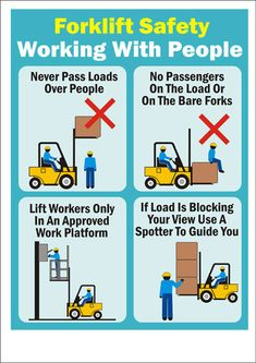 ‪#‎ForkliftSafety‬  Forklift Safe Use With People  ‪#‎ForkliftAccessories‬