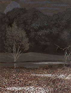 Léon Spilliaert (Belgian, 1881-1946), Paysage nocturne [Night landscape].
