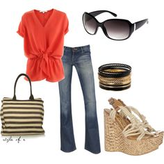 Summer fun, created by styleofe on Polyvore