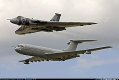 Avro Vulcan and Flyover Military Jets, Military Aircraft, Vickers Vc10, Avro Vulcan, Air Force Aircraft, Air Space, Diesel Locomotive, Aircraft Pictures, Aeroplanes