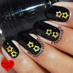 Black and gold holo stars