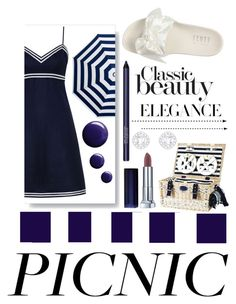 """""""Navy Picnic"""" by londynalei ❤ liked on Polyvore featuring Puma, Zimmermann, Les Jardins de la Comtesse, Topshop and Smashbox"""