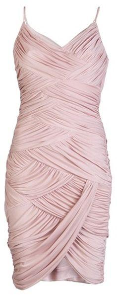knee-length draped bridesmaid dress