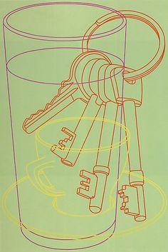 Michael Craig-Martin Burton Morris, Michael Craig, 7th Grade Art, Still Life Artists, Still Life Drawing, Outline Drawings, A Level Art, Art Courses, Inspirational Artwork