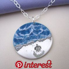 Almost There - enameled Sea Turtle Necklace in sterling silver - available on Etsy | Handmade jewelry in 2019 | Pinterest | Jewelry, Jewelry necklaces « Jewerlry Enamel Jewelry, Sterling Silver Jewelry, Silver Ring, Silver Earrings, Soutache Jewelry, Pandora Jewelry, Glass Jewelry, Gold Jewellery, Bridal Jewelry