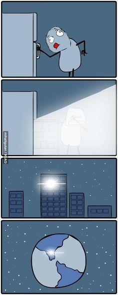 Fridge at night