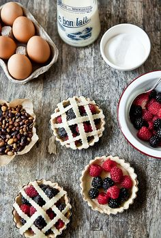 Mini berry pies. I have these little tart shells already.