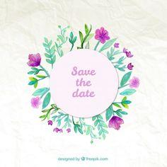 darmowe zaproszenia ślubne do pobrania, grafiki ślubne do pobrania, grafika z motywem kwiatowym