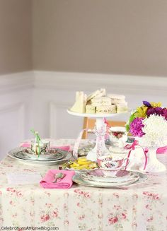 Great new ideas to host a classic tea party. Perfect for a bridal shower or Mother's Day!