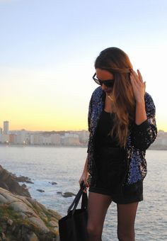 """#eightsixty sequin bomber jacket on the blog """"Stella Wants To Die"""""""