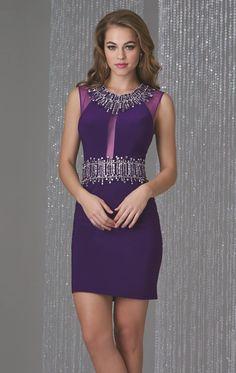 beaded-keyhole-back-cocktail-dress-short-purple
