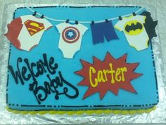 Super Hero Baby Shower Cake at Sweet Boutique Cakes