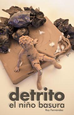 Detrito, fotografía, photoshop, maqueta de cartulina, plástico y arcilla