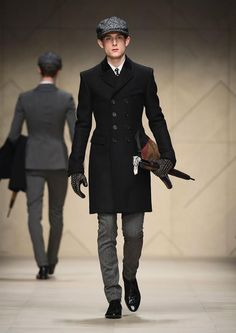 I wish I could wear hats! Burberry Prorsum Men's A/W '12