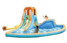 Backyard Water Slides are convenient & cost effective. No more standing in long waterpark lines, and they work well in smaller backyards because they inflate quickly and pack away when not in use.