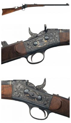 Engraved and gold inlaid Model 1871  - Remington Rolling Block rifle designed by Artist Robert Auth.